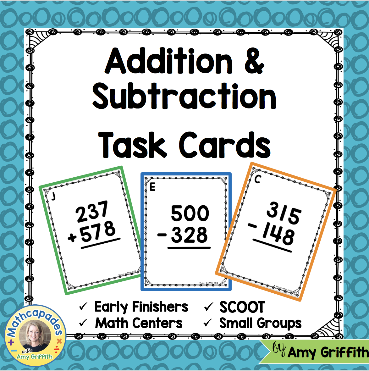 3 Digit Addition And Subtraction Task Cards Teks 3 4a