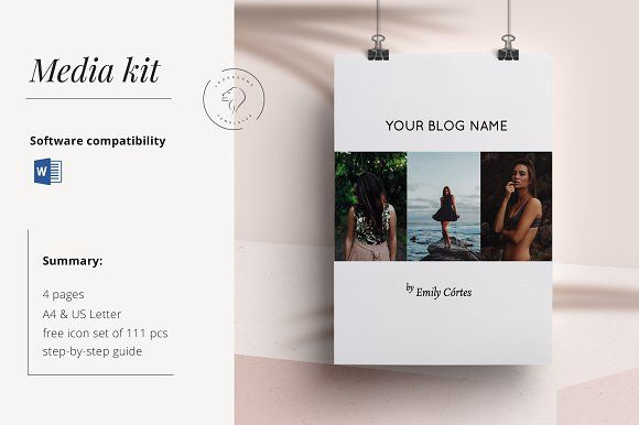 Media Kit Template 4 Pages @creativework247 Resume Fonts - fonts for a resume