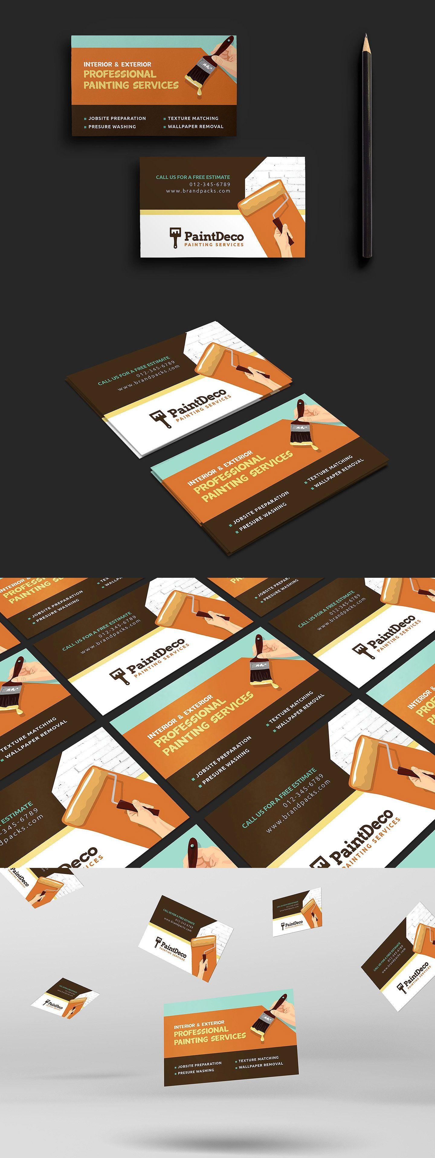 Painter Decorator Business Card Template Psd