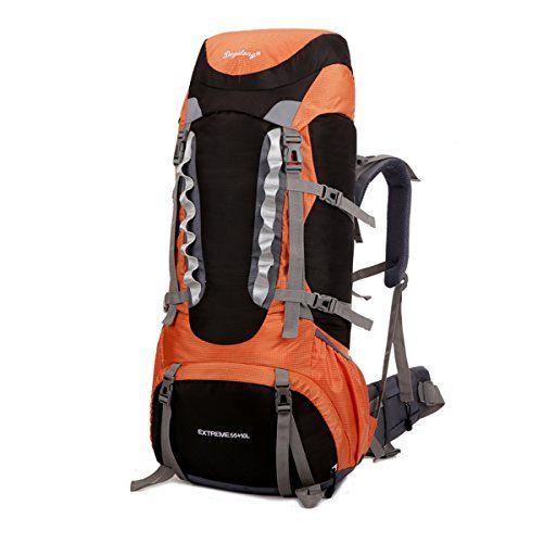 4ca606459c65 Sfeibo Internal Frame Backpack 55L10L Nylon Waterproof With Rain ...