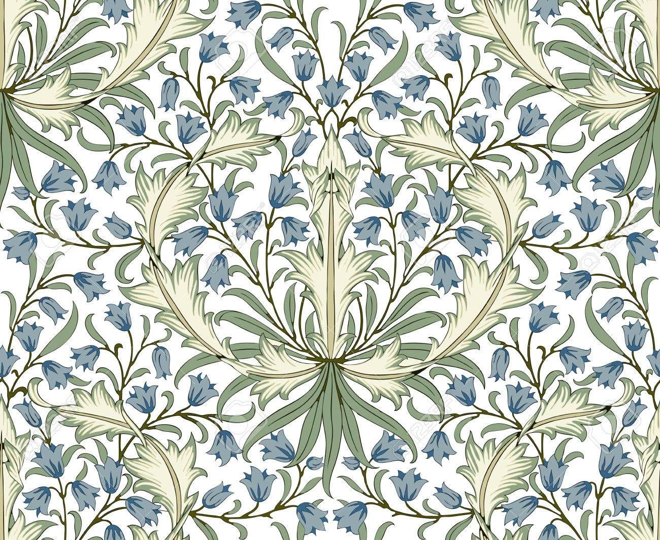 Stock Vector Modern Floral Wallpaper Floral Your Design