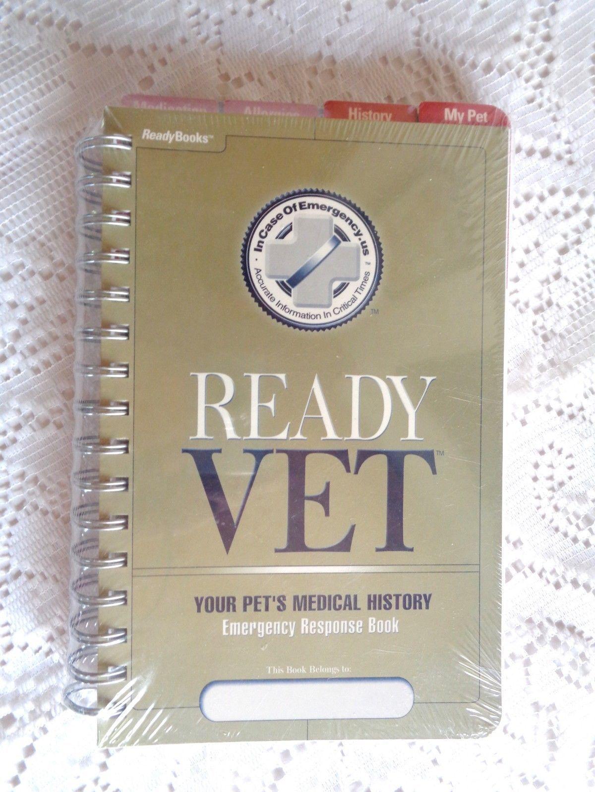 ready vet pet medical record history emergency response book 20
