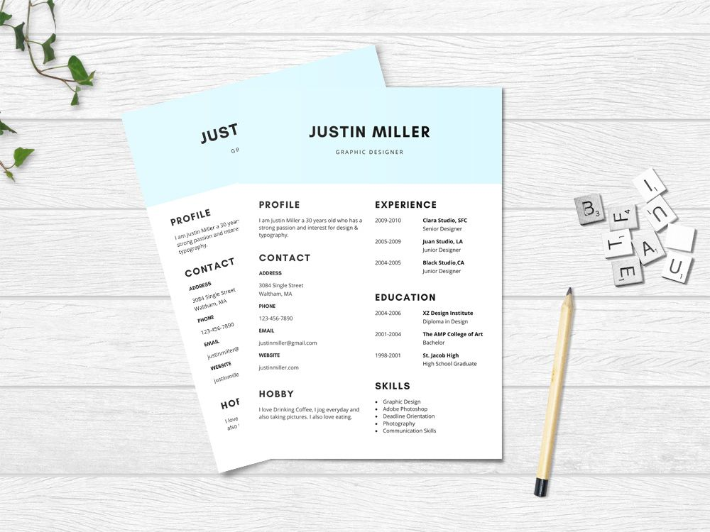 Free Elegant Resume Template with Minimalist Design Free Resume