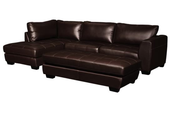 Ciera Brown 3 Pc Sectional Value City Furniture Value