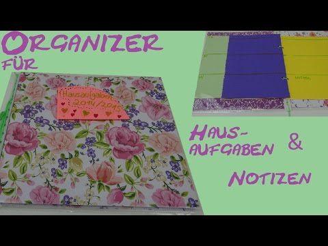 diy kalender organizer hausaufgabenheft terminplaner f r die schule selber machen youtube. Black Bedroom Furniture Sets. Home Design Ideas