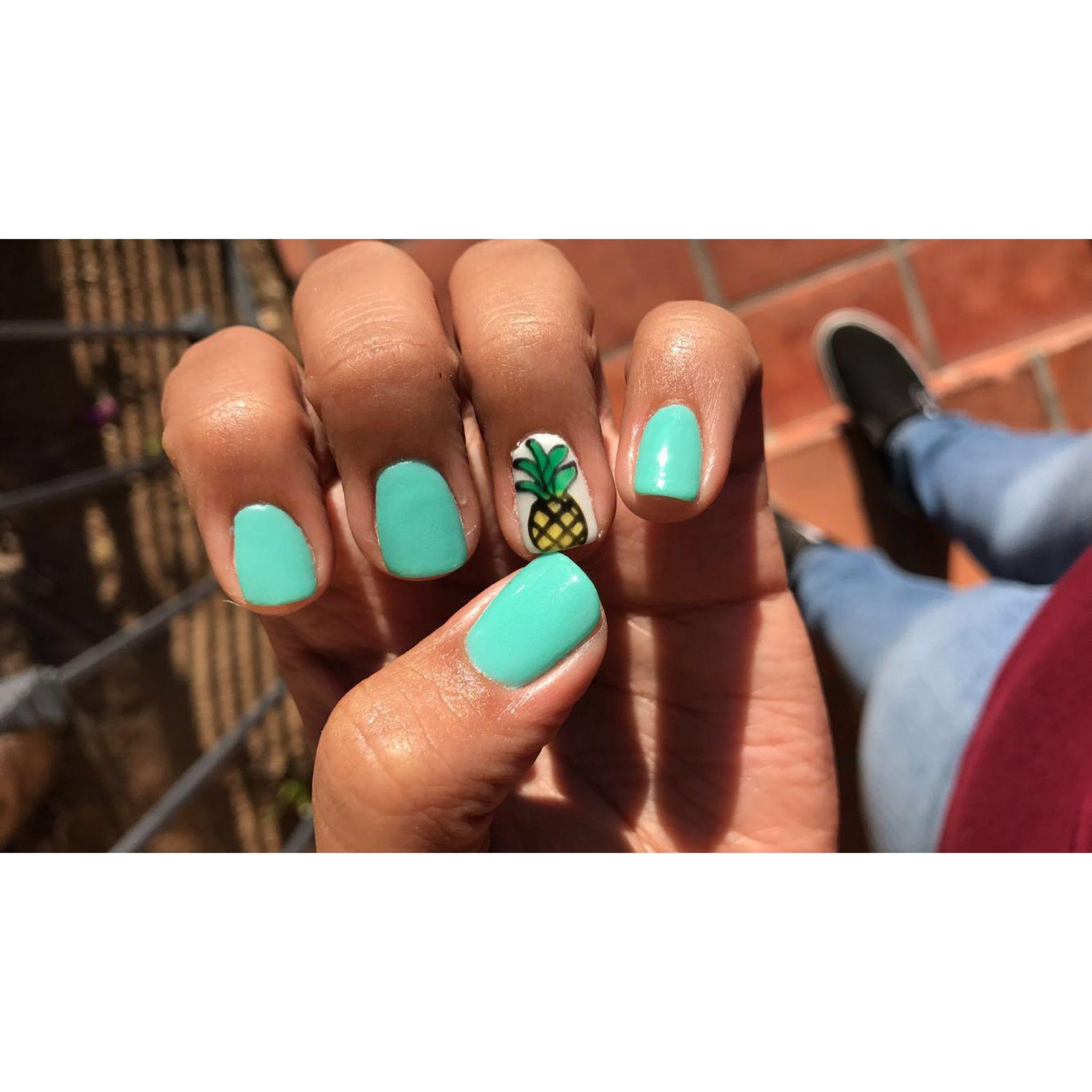 Pineapple Nail Design, fun for summer | Nails | Pinterest ...
