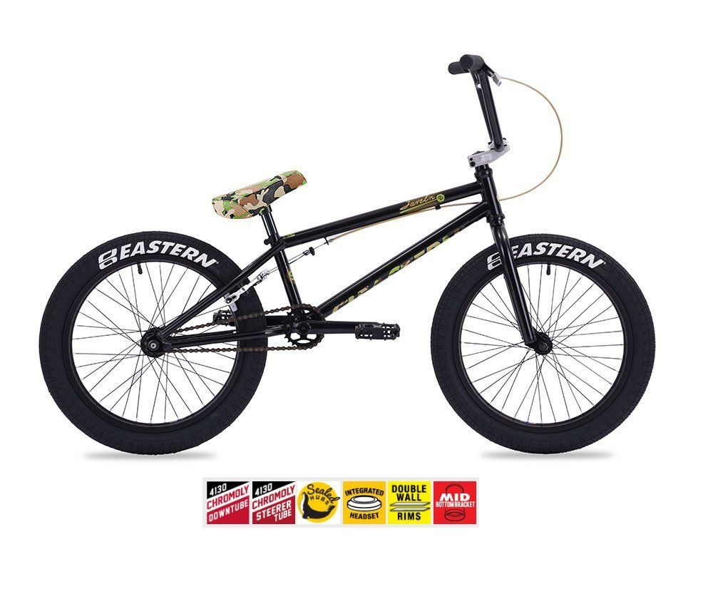Eastern Javelin Bmx Bike 2017 Bicycle Black And Camo Sealed Front And Rear Hubs Sealed Mid Bottom Bracket Sealed Integrated Headset S Bmx Bikes Bmx Bicycle