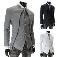 This quilted Long Sleeve Mens Suits (sku:017-140423002) is made from Cotton Blends in size XS,S,M,L