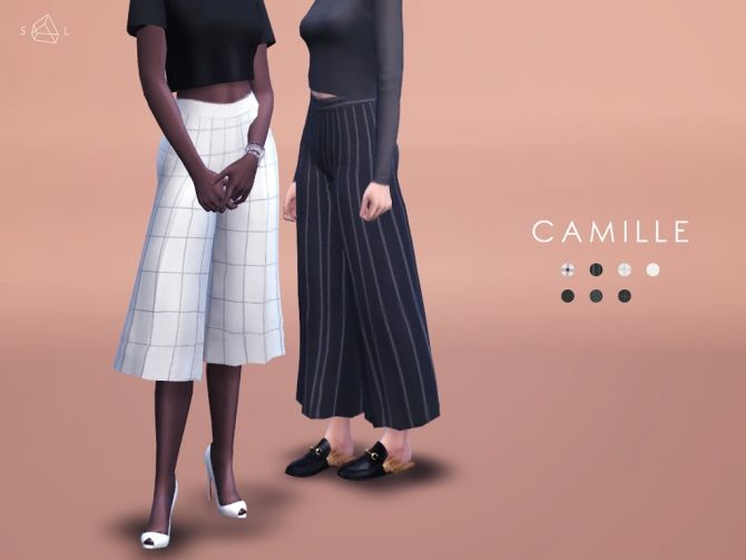 CAMILLE Wide leg pants at Starlord Sims • Sims 4 Updates