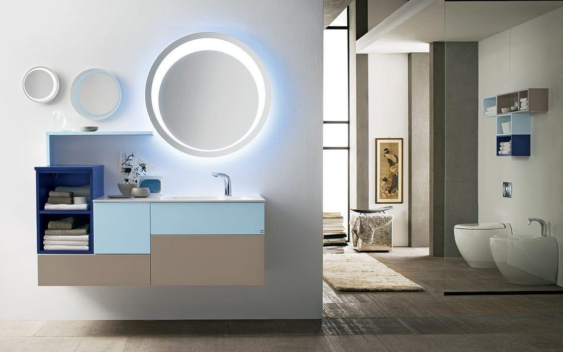 Mueble De Lavabo Moderno De Madera Laminado