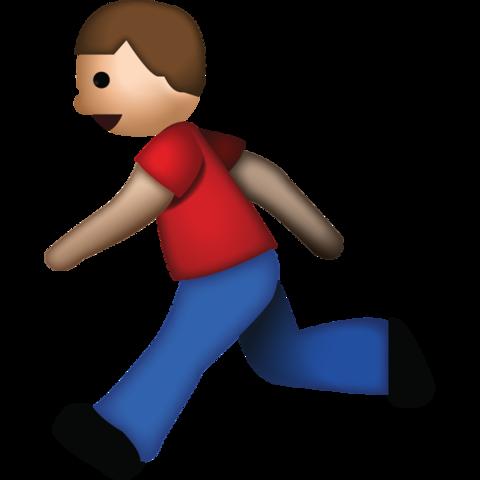 Man Running Emoji Emoticone Png Grand Format