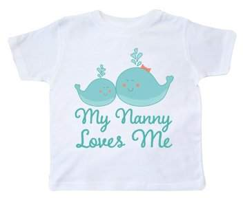 My Nanny Loves me to the Moon and Back Cute Childrens Kids Tee T-Shirt
