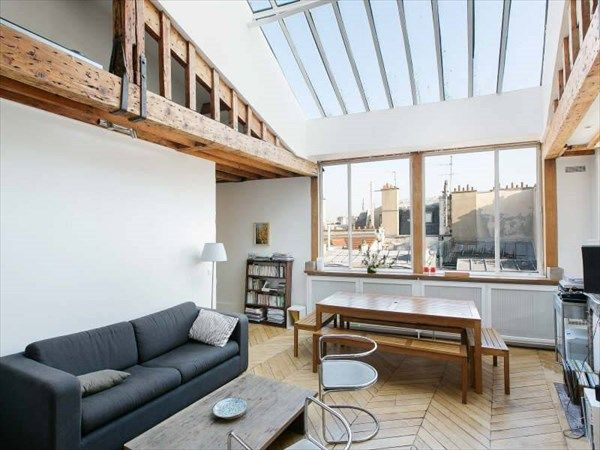 A Little Attic In Paris With A Skylight