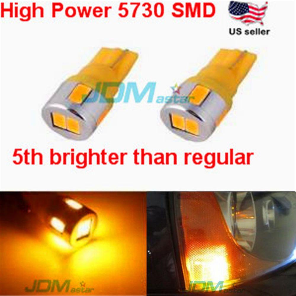 JDM ASTAR T10 Wedge 12V Super Bright 5730 SMD 194 168 2825 Amber LED