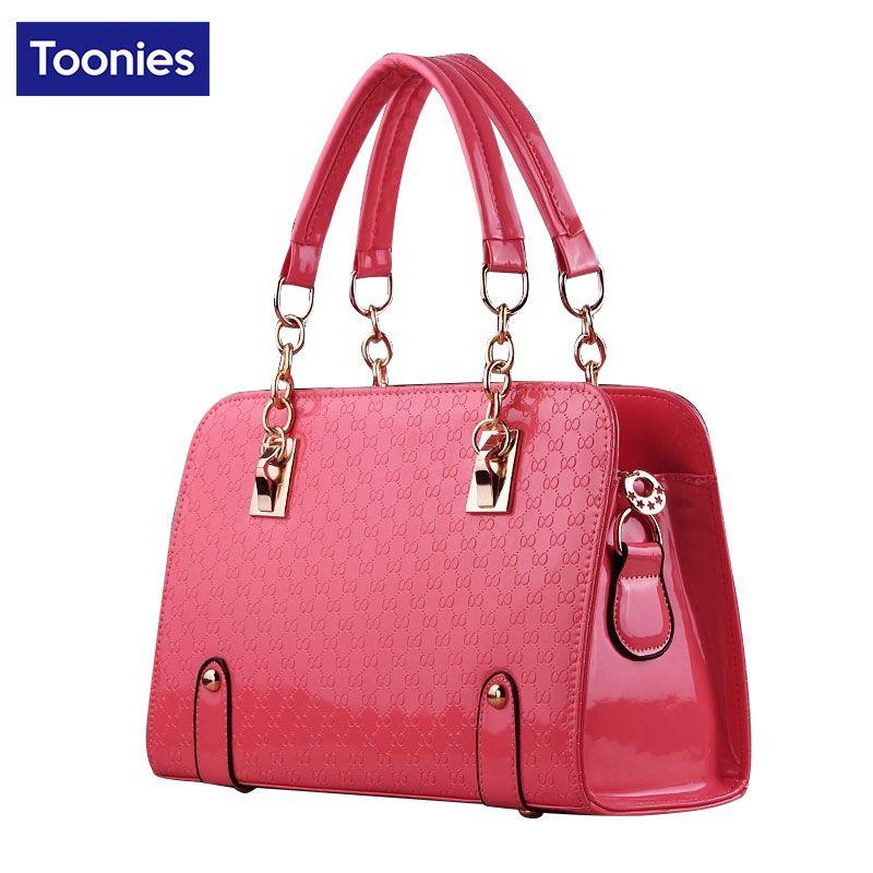 Chain Handle Handbags Hard Imitation Luxury Fashion Solid Crossbody Shoulder Handbag Female Bags Lady Brand