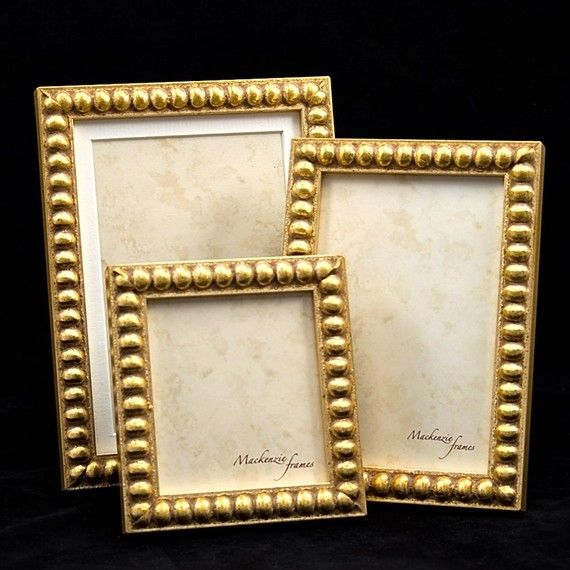 3 Narrow Gold Boules Frames 4x6 5x7 And Mini By Mackenzieframes
