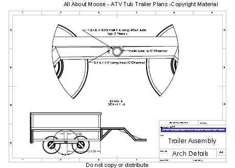 Atv Tub Trailer Plans Atv Trailers Trailer Plans Utility Trailer