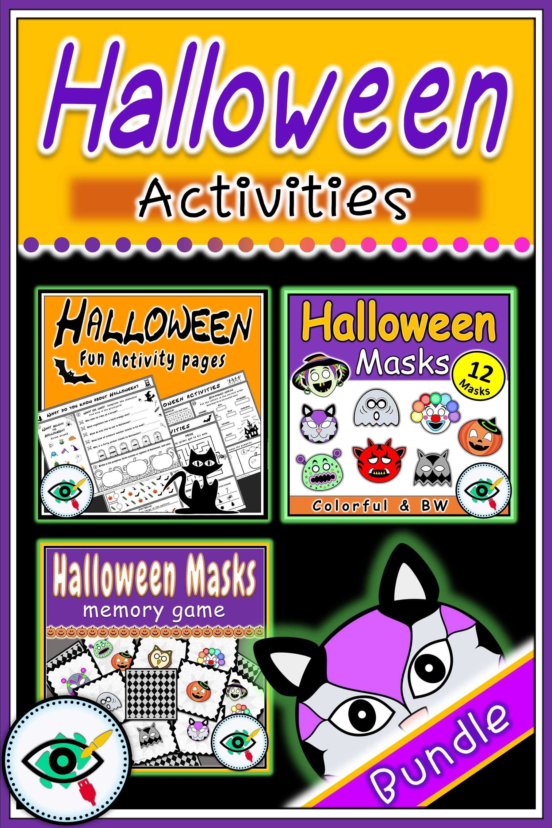 Halloween Craft Worksheets And Game Bundle Met