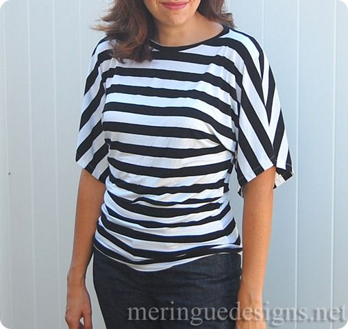 Stripe tunic from Burda blogged by MeringueDesigns.net