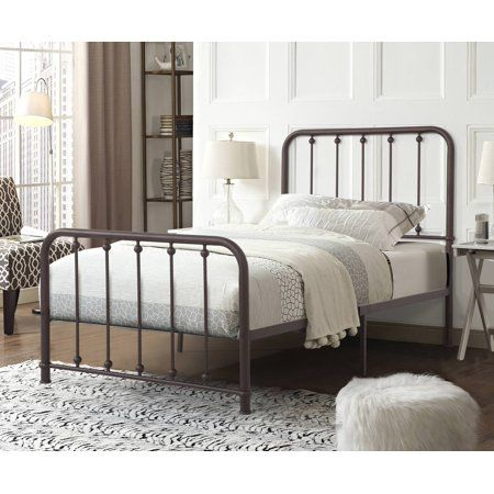 Home Source Axel Black Metal Twin Size Bed Bed Sizes Bed Bed