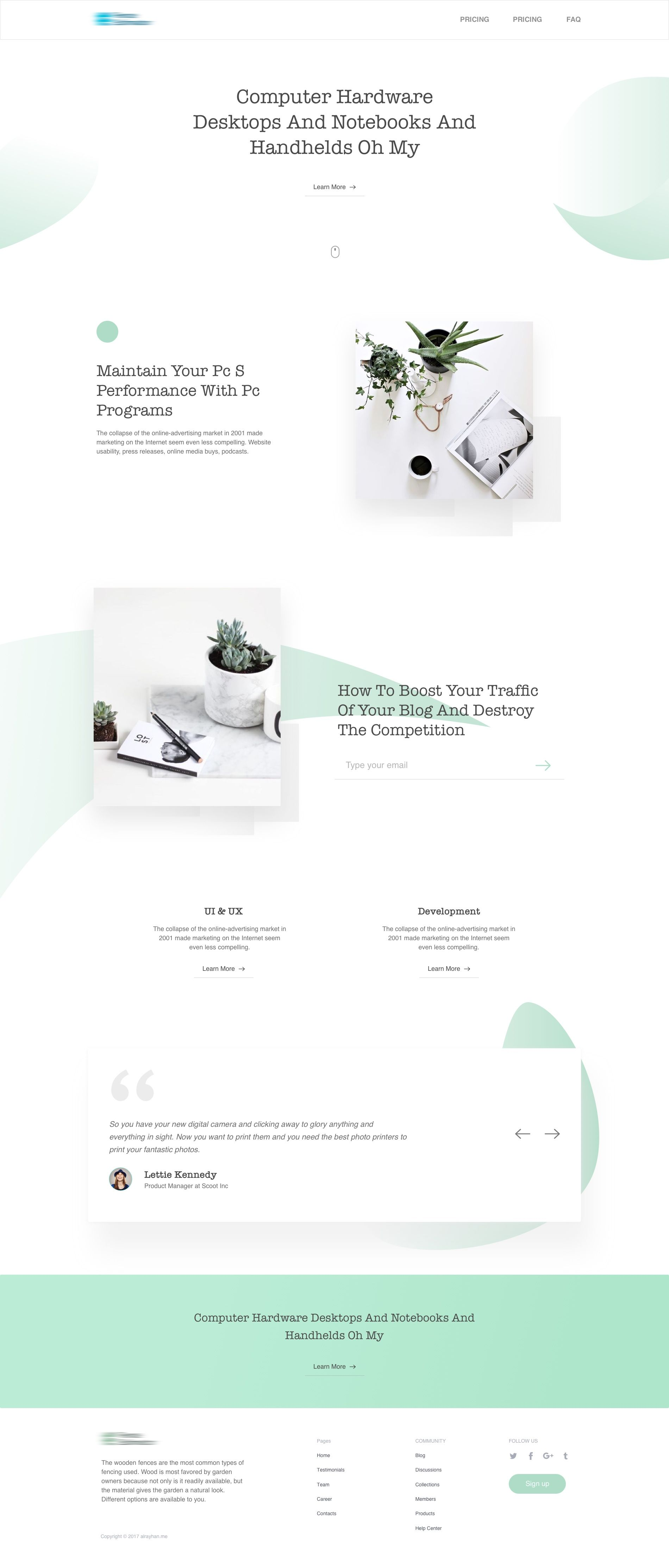Clean Minimal Landing Page 2 Minimalist Web Design Minimal Web Design Web Design Examples