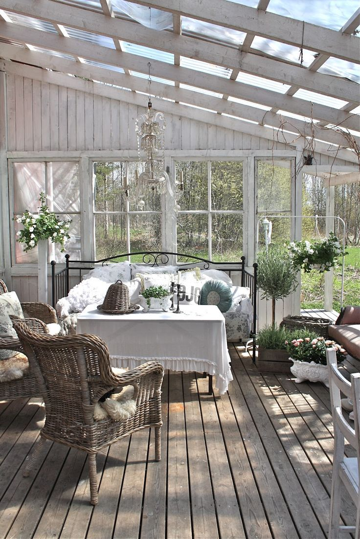 Garden outdoors patio porch shabby chic cottage pinterest