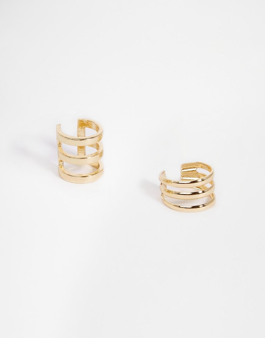 ASOS Open Cage Ear Cuff Pack