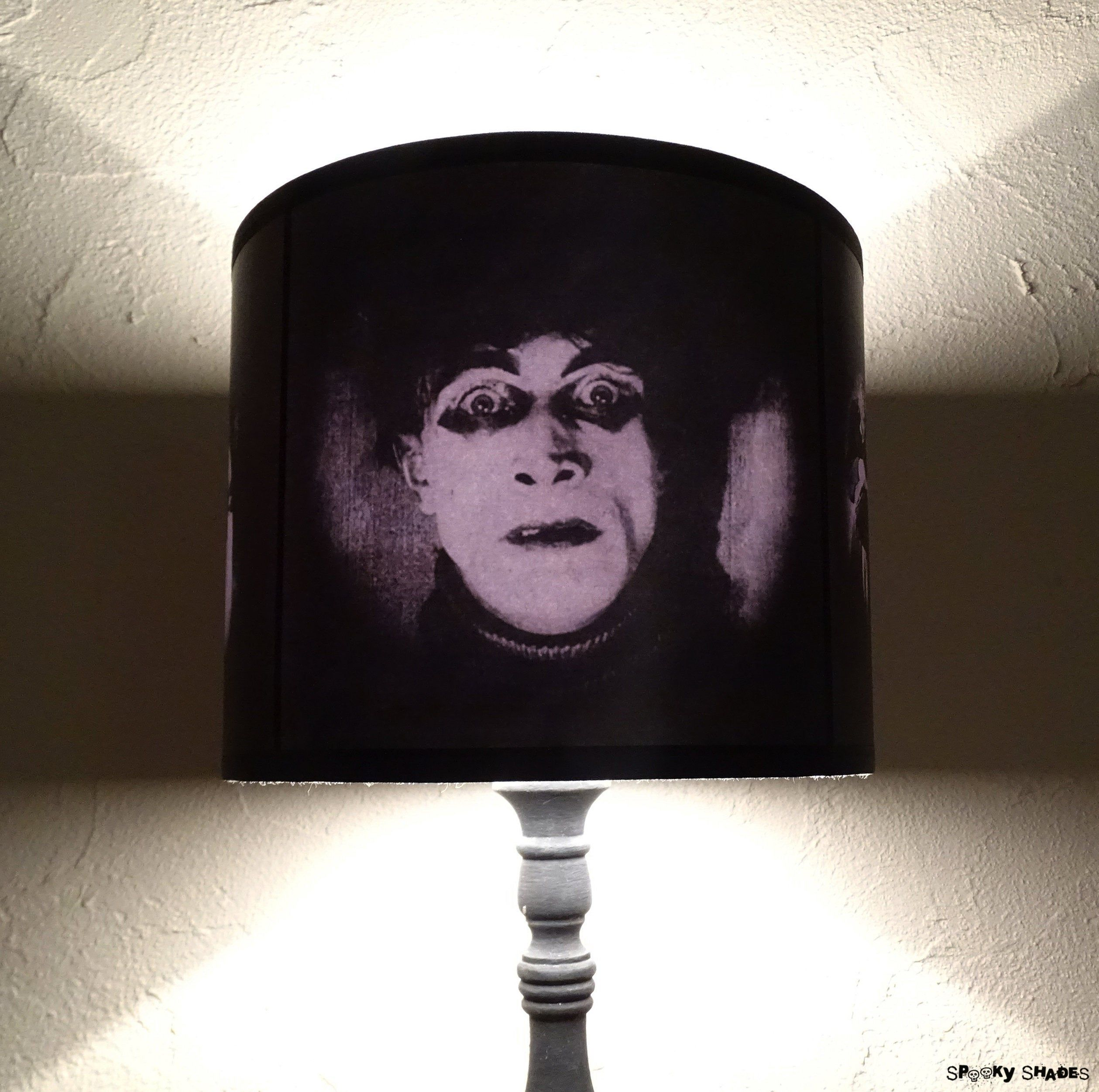 The Cabinet Of Dr Caligari lamp shade lampshade - Halloween decor, Gothic Home Decor, classic horror movie, morbid, table light shade #gothichome