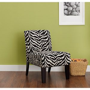 Hometrends Accent Chair Zebra Print Zebra Chair Accent Chairs