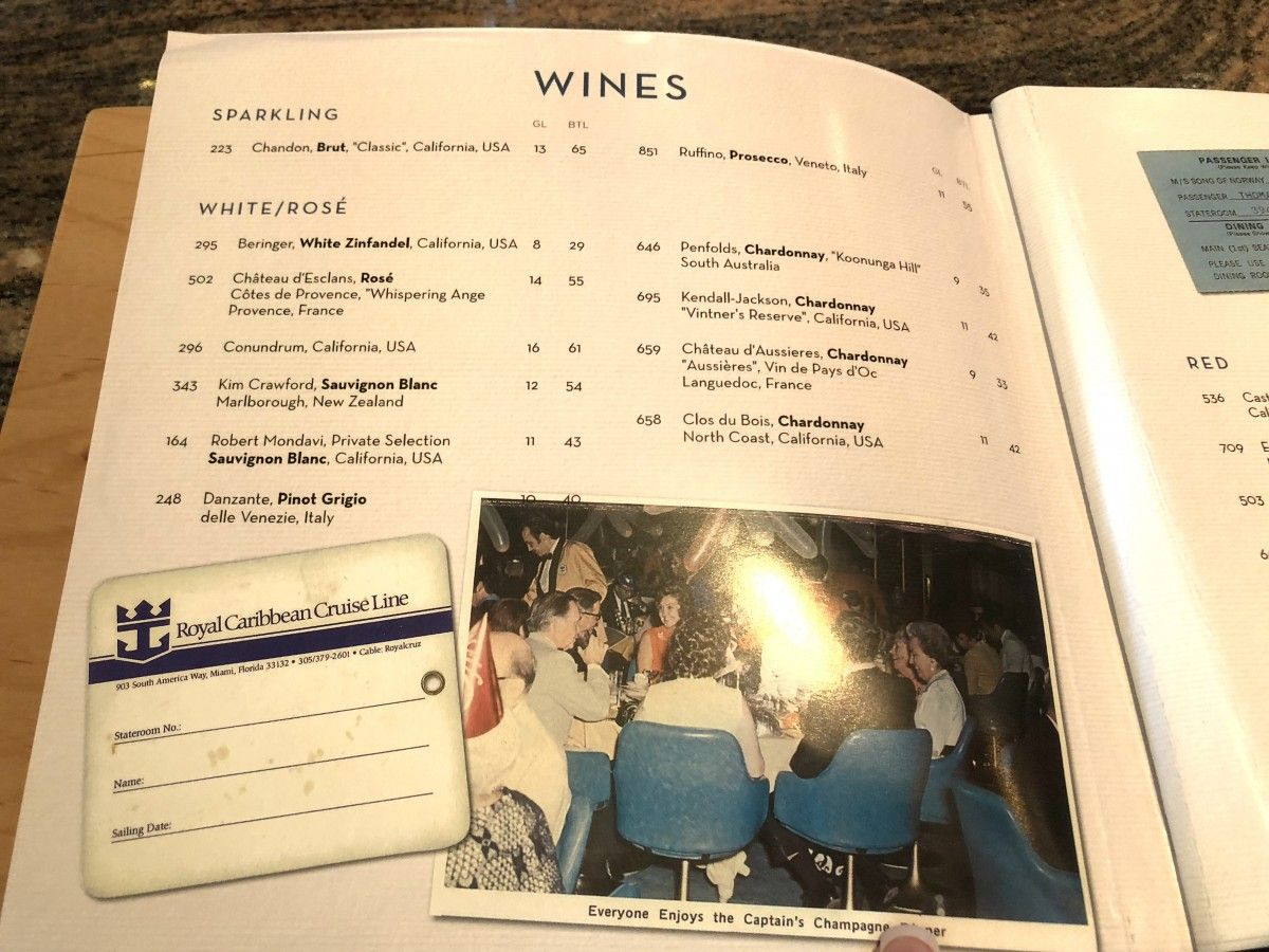 Drinks Menu Royal Caribbean Independence Of The Seas As Of May