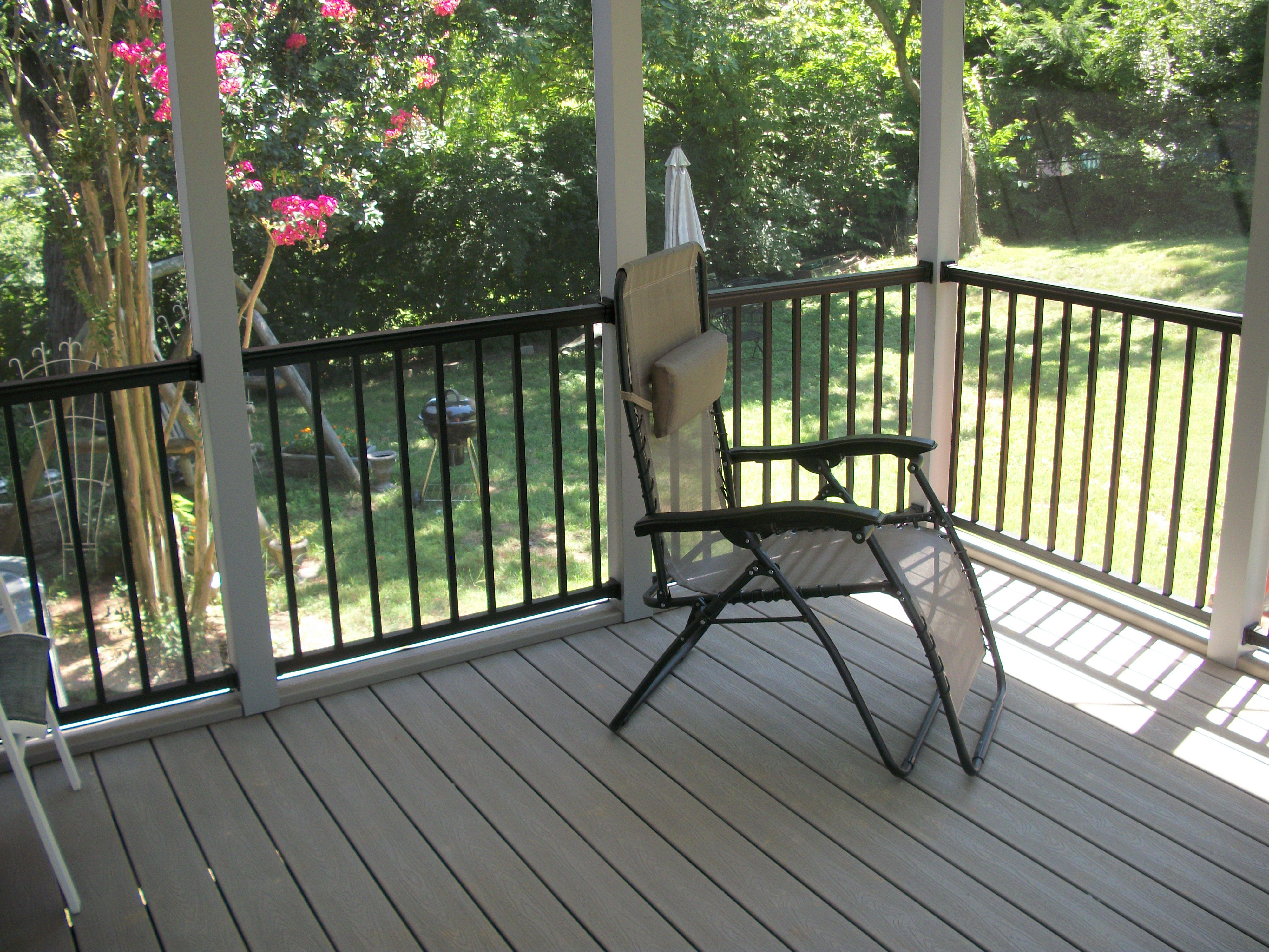 This Is A Small Trex Porch With Trex Railing System Down To A