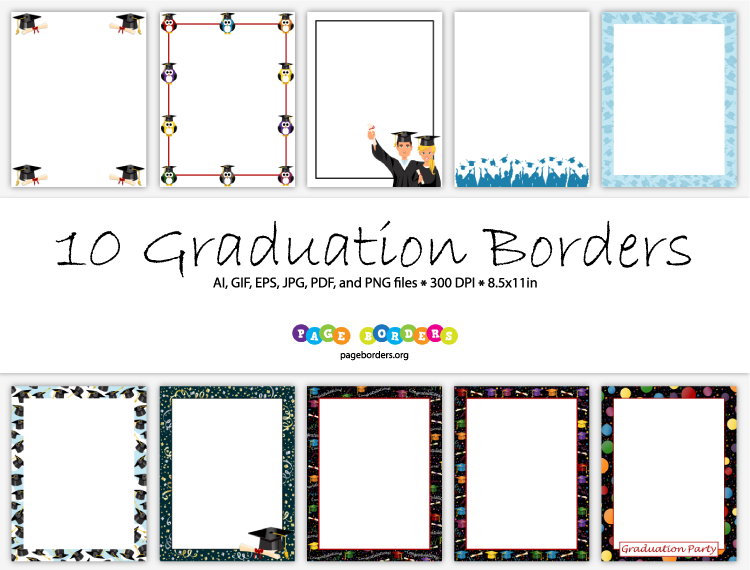 Border X 5 Purple Graduation 8 11