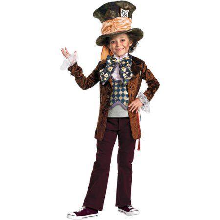 Boys Prestige Mad Hatter Halloween Costume