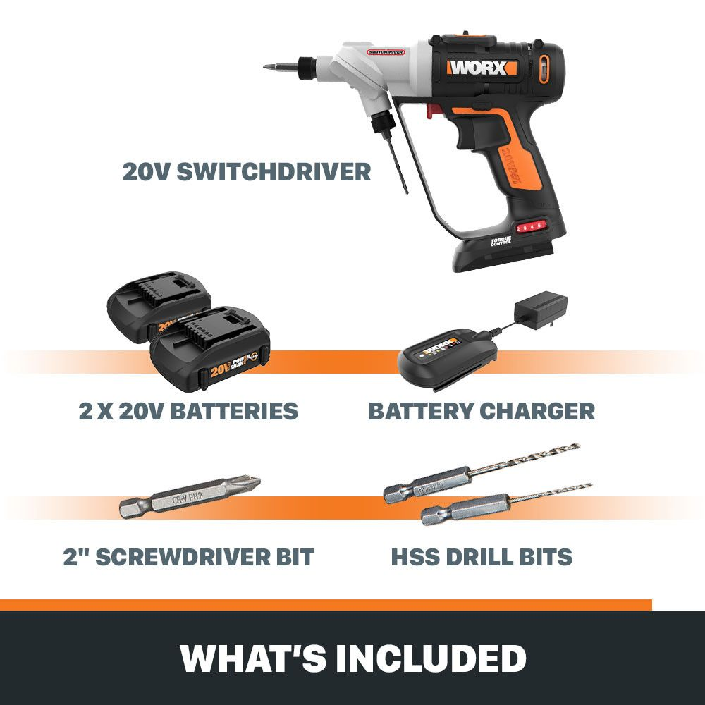 20v Power Share Switchdriver 2 In 1 Cordless Drill Driver Cordless Drill Drill Drill Driver