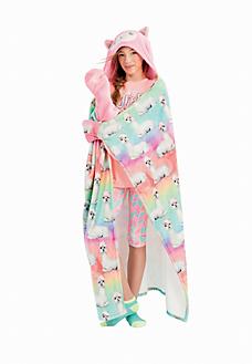 d0b25de872fe0 Cozy Hooded Llama Blanket