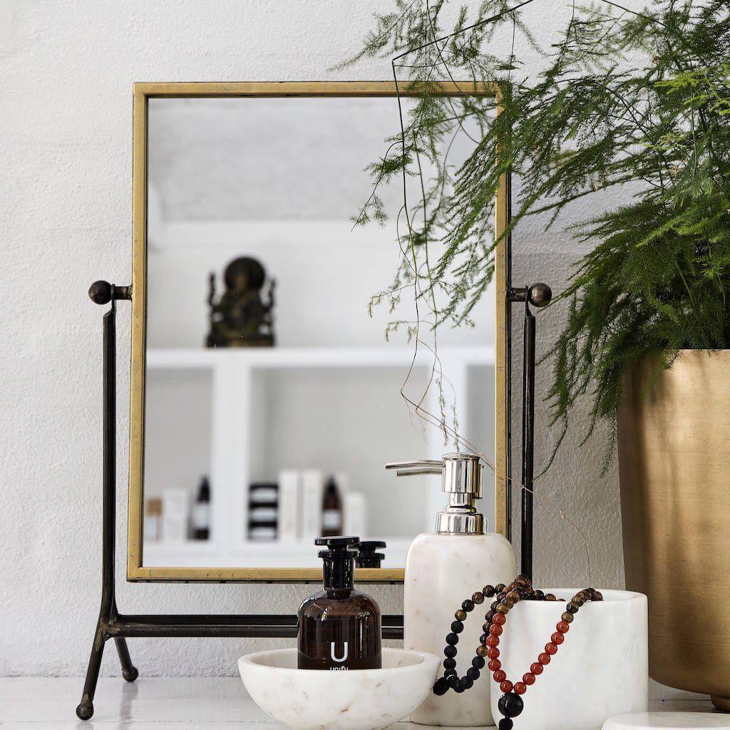 Modern dressing table mirrors gold vanity mirror on a stand  table mirror vanities and dressing room