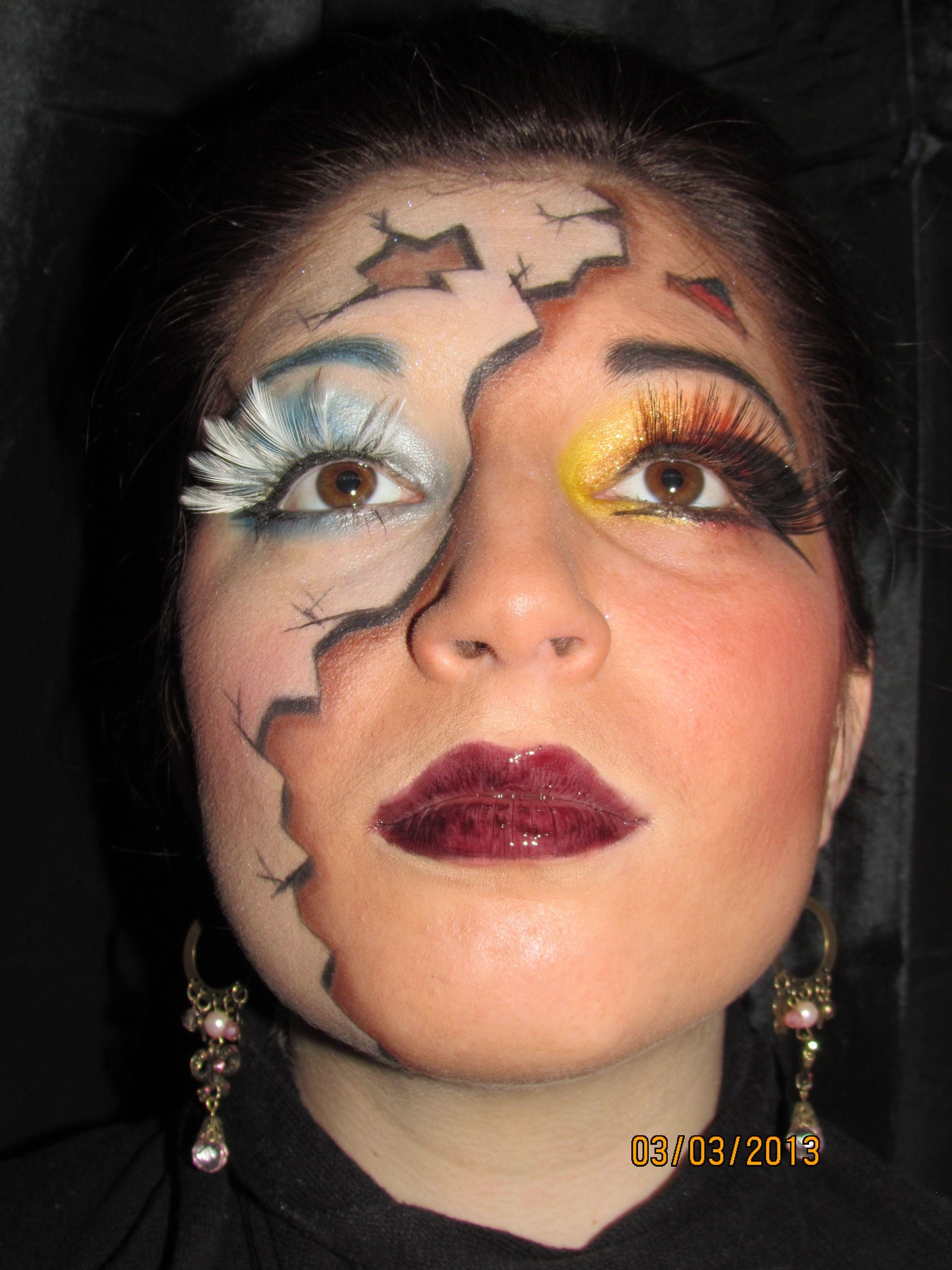 Halloween Makeup Devil And Angel.Pin On Halloween