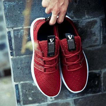 Men Mesh Light Wight Lace Up Outdoor Breathable Sneakers Chic Outfits Sneakers Latest Fashion Trends