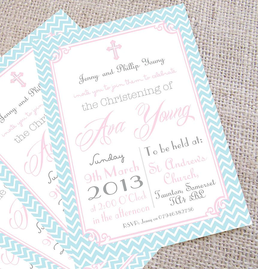Personalised u0027Christeningu0027 Invitations Christening, Christening - naming ceremony invitation