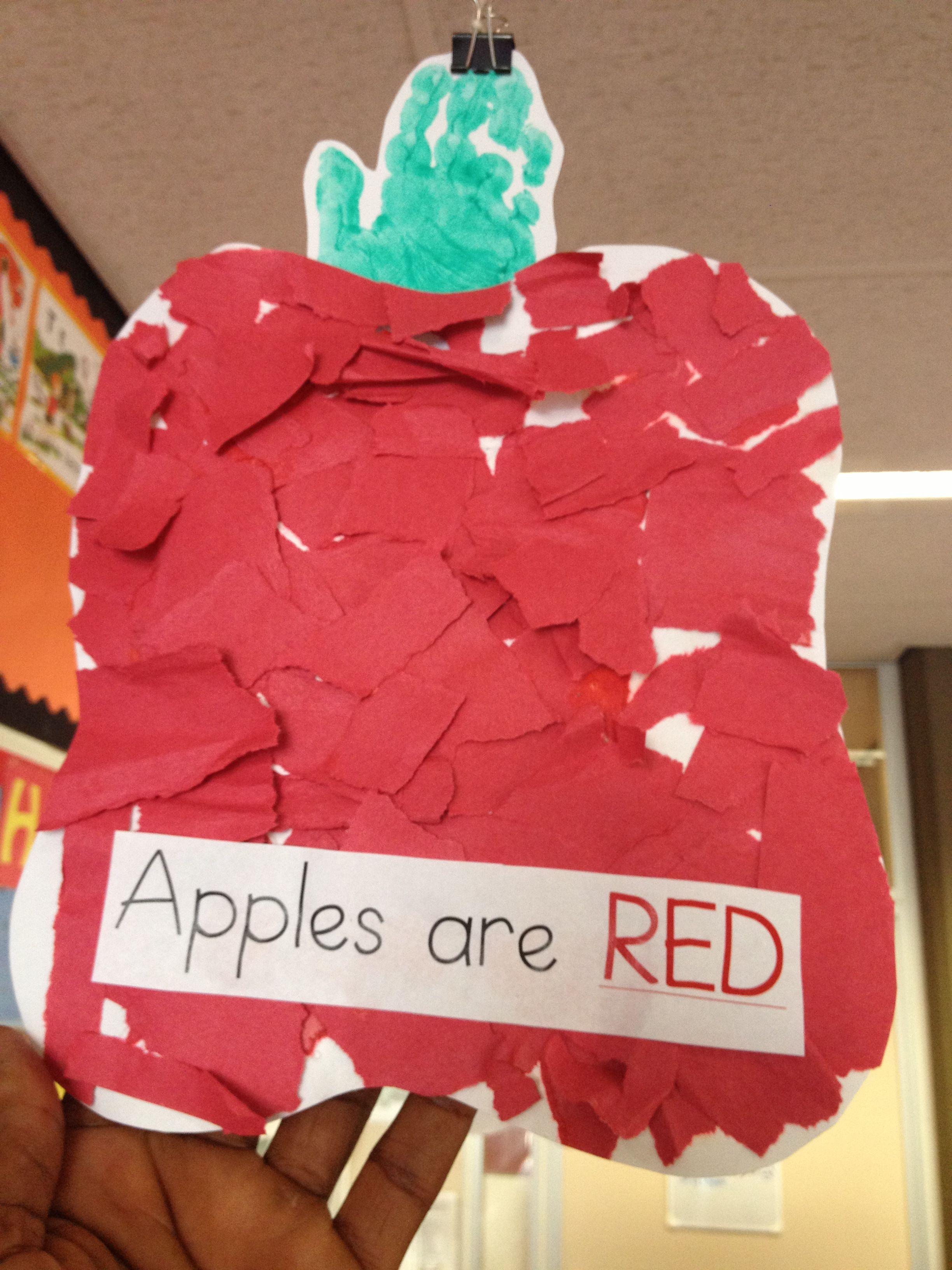 Color Red Craft Preschool Prekindergarten Kindergarten