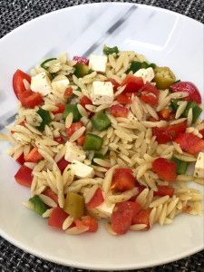 Photo of Greek-style pasta salad – perfect for crickets – Kritharaki