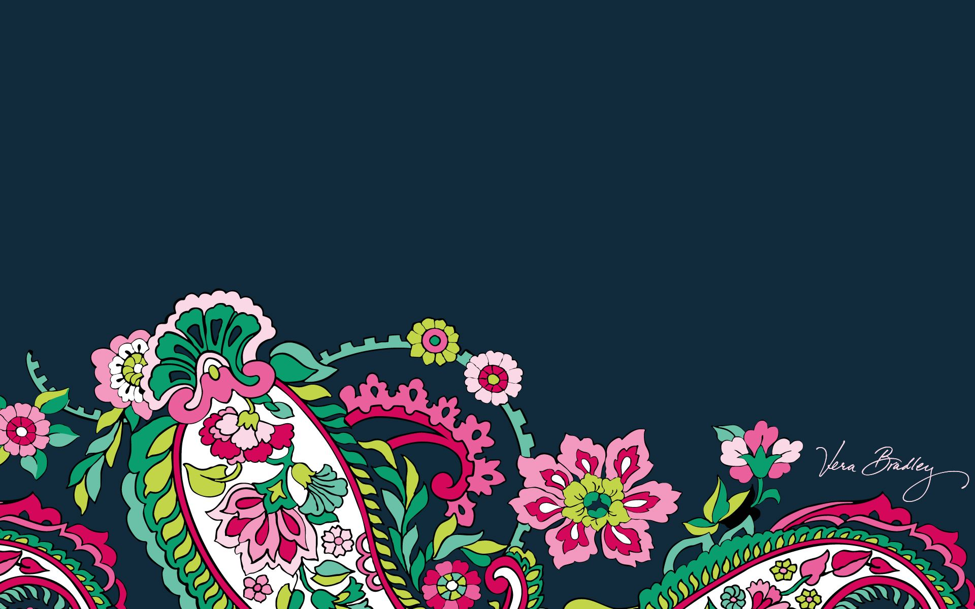 Dress Your Tech Petal Paisley Desktop Wallpaper