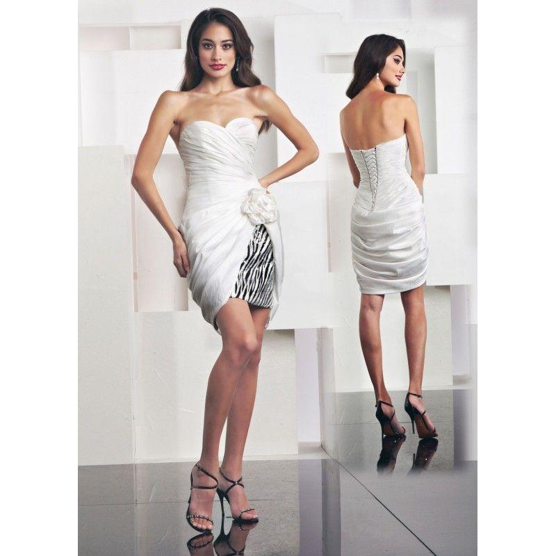 zebra dress | Masquerade Short Zebra Print Prom Party Dresses 2011 ...