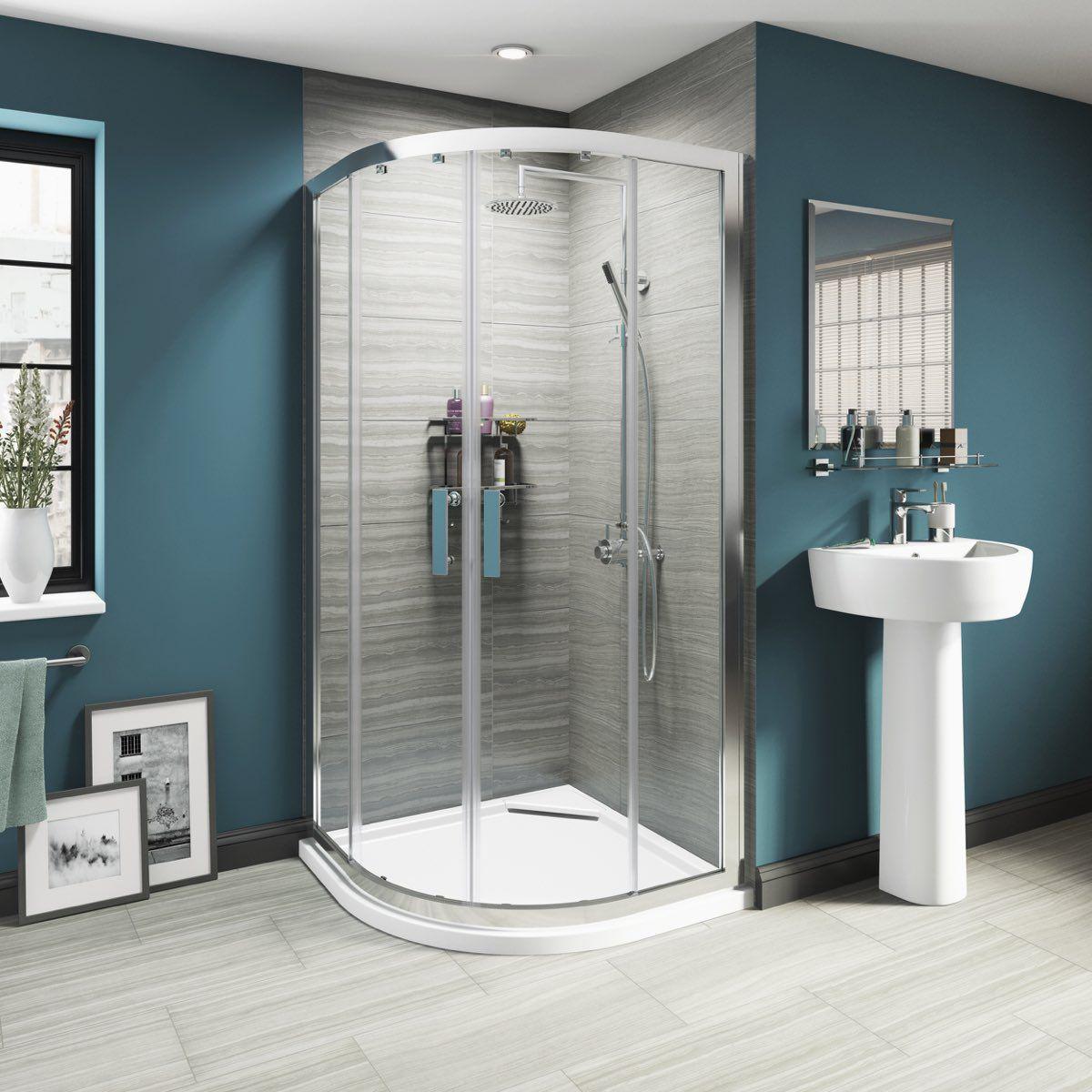 Luxury 8mm sliding door quadrant shower enclosure 1000 X 1000