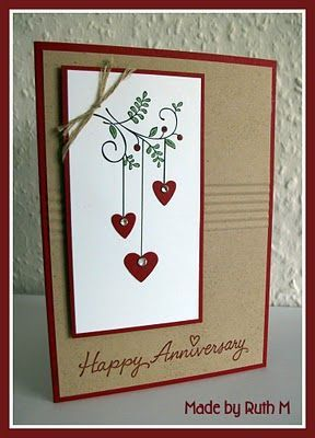 1000 ideas about Handmade Anniversary Cards on Pinterest