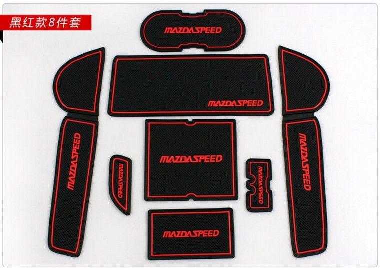 2009 2010 2011 2012 Mazda 6 M6 Speed Atenza High quality Silica gel Gate slot pad,Teacup pad,Non-slip pad(8pcs)