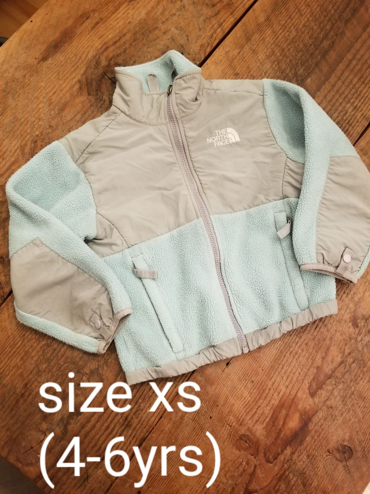 Baby Blue And Grey Northface Fleece Unique And Nice Jacket Comes From A Smoke Pet Free Home Jackets North Face Coat The North Face [ 1600 x 1200 Pixel ]