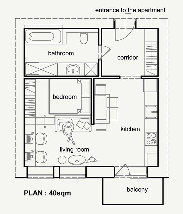 Sketch Small Apartment Plans Small Apartment Design Apartment Layout