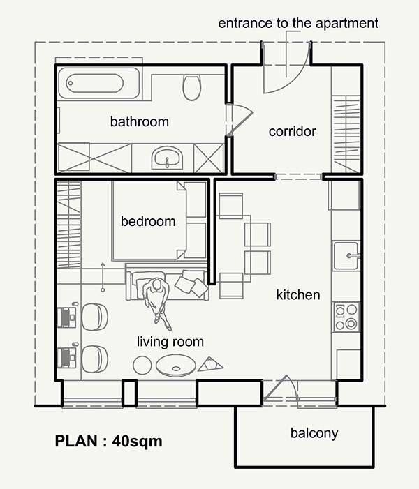 Sketch Small Apartment Plans Apartment Plans Apartment Floor Plans