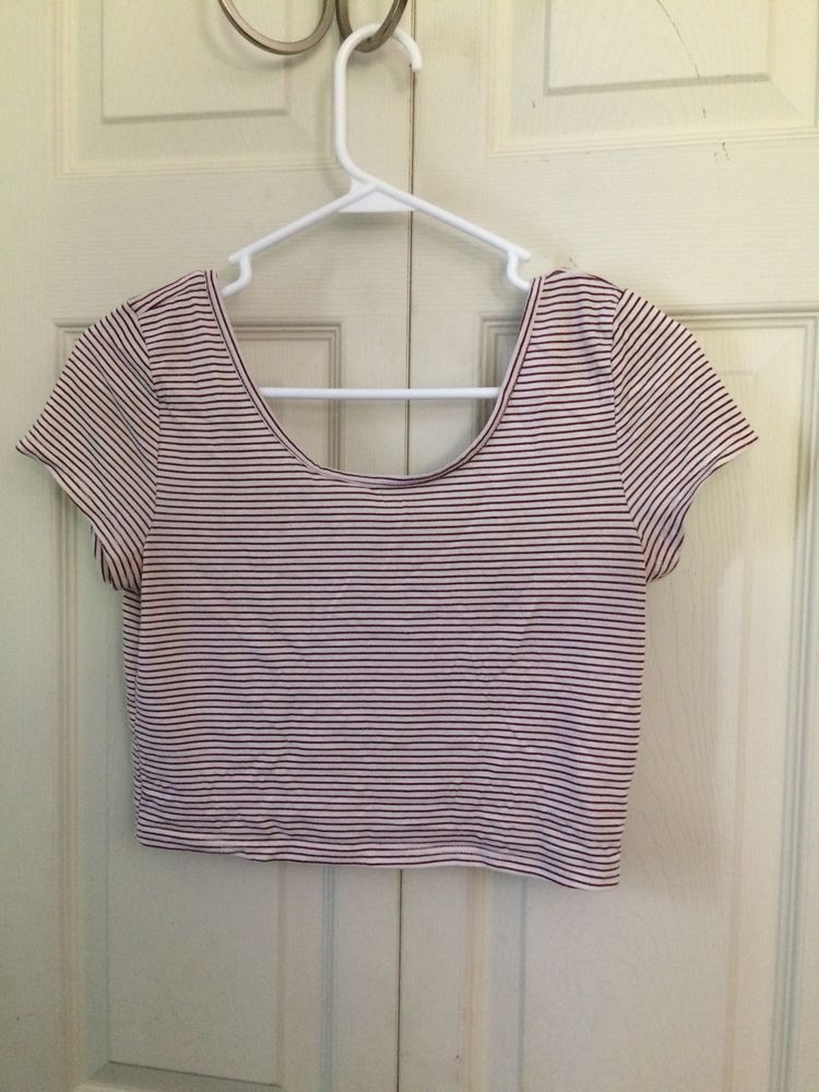 b8937c8f611f84 American Eagle Crop Top size small  fashion  clothing  shoes  accessories   womensclothing  tops  ad (ebay link)